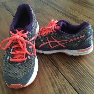 ASICS Gel Excite 4 Purple/Gray/Coral Running Shoes